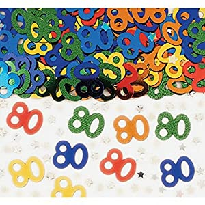 Shatchi CONFETTI-80TH-MULTI-1PK-14033 - Confeti de 80 cumpleaños (unisex, 14 g)