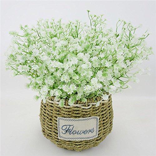 muxiao Künstliche Blume Simulation Anlage Emulational Blume Kunststoff Babysbreath Gypsophila Prop Dekorieren Floral Decor Weiß Geschenk