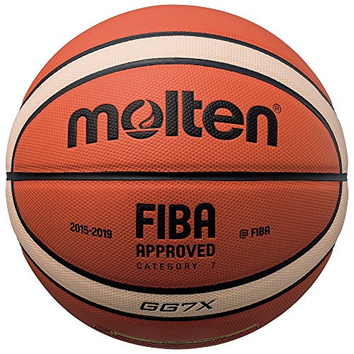 Molten BGG7X - Ballon de Basket-Ball, Orange/Marron, Taille 7
