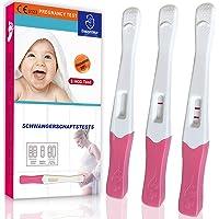 Schwangerschaftstest Frühtest,3er Pack mit HCG Teststreifen 10 miu/ml,Schwangerschaftstest Sicher und Schnell,über 99.9…
