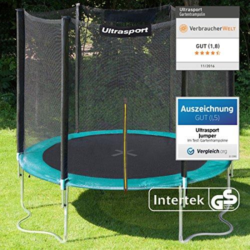 Ultrasport Gartentrampolin Jumper, Trampolin Komplettset inklusive Sprungmatte, Sicherheitsnetz, gepolsterten Netzpfosten und Randabdeckung - 2