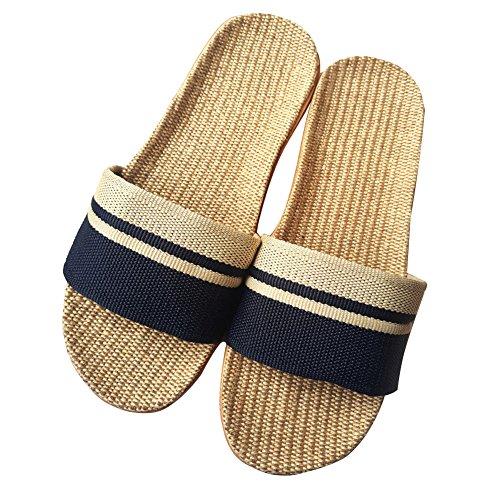 Minetom ciabatte casa estive/per donna uomo bambini/pantofole aperte interno scarpe/con suola antiscivolo b blu eu 42/43