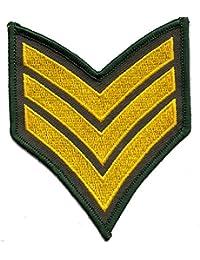 ecusson insigne us army sergent chef brodé armée us usa 9,5x8cm marines