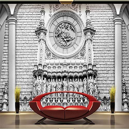 ZHENSI 3D Wandtattoo 3D Wand Papier Wandbild Dekoration Foto Hintergrund Klassische Stereo Fotografie Architektonische Skulptur Luxus Wohnzimmer Wandbild Wandmalerei215(H)×290(W) cm