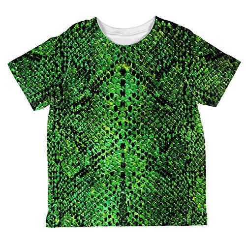 Halloween-grüne Schlange Snakeskin Kostüm aller Kleinkind T Shirt Multi 2 t (Graphic T-shirt Jungen Kleinkind)