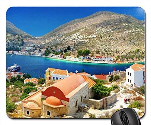Preisvergleich Produktbild Die Schönheit von Griechenland Mauspad, Mousepad (Sky Maus Pad)