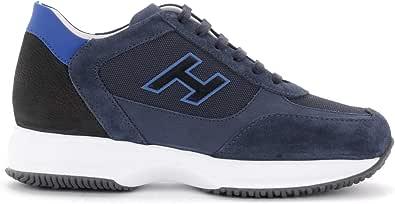 Hogan Sneaker Interactive in Suede E Mesh Denim, Taglia UK: