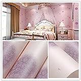 YUELA Vliestapeten_selbstklebend Vlies wallpaper Cartoon rosa Bären Hintergrund Wand warm Junge schlafzimmer kinderzimmer, Löwenzahn Violett - selbstklebend 5 m