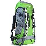 SUTTER Backpacking-Rucksack 80 Liter Grün/Outdoor Wanderrucksack Trekkingrucksack/Großer Hiking Reiserucksack