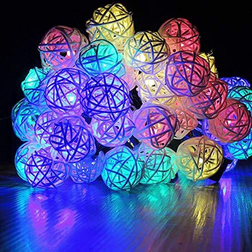 WXCCK 20 Fari solari solari a LED, Fata Palla in Rattan Impermeabili luci da Giardino all\'aperto per la Decorazione del Giardino di Nozze Lanterne a Risparmio energetico