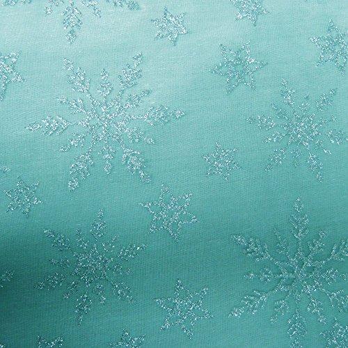 Glitzernde Schneeflocke hellblau Organza Disney Frozen Elsa (Anna Inspirierte Kostüm)