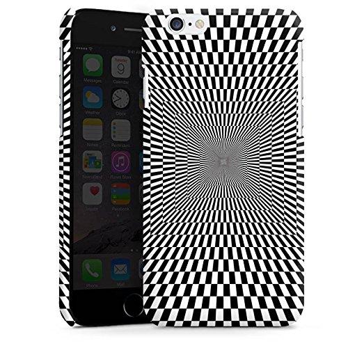Apple iPhone 5s Housse Étui Protection Coque Effet d'optique Confusion Noir et blanc Cas Premium brillant