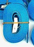 iapyx® Paar (2Stk) Befestigungsriemen Set Farbe wählbar, ideal zur Befestigung am Fahrradträger, Auto Heckträger Fahrrad, Klemschloss Gurte, Spanngurte, Camping Outdoor (blau 4m)