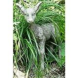 Vidroflor Gartenfigur | Gebrüder Grimm REHKITZ | B/H: 33/43 cm | 6 kg | aus massivem Steinguss