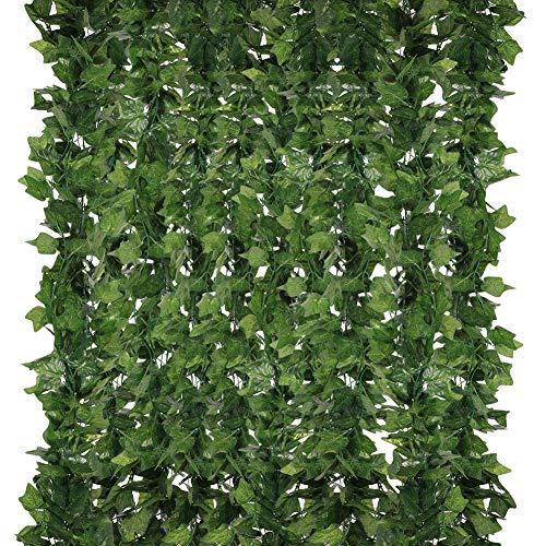 Homvik Plantas Artificiales Hiedra 5Pcs*2.4m Plantas