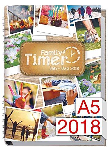 Chäff Family-Timer 2018 - Der Familien-Planer! 12 Monate Jan-Dez 2018, Familienkalender Test