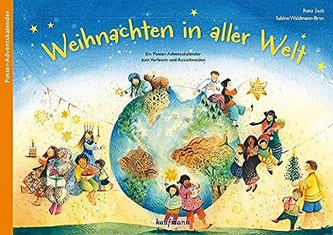 Weihnachten in aller Welt: Ein Poster-Adventskalender zum Vorlesen und