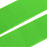BIG-SAM - 1 Meter Gummiband / Gummilitze - 20mm breit - über 20 verschiedene Farben zur Auswahl (Neon Grün)