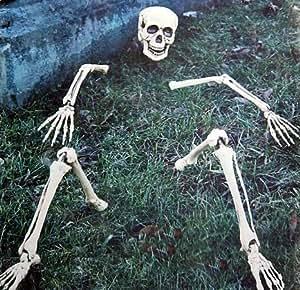 Skelett Teile Totenkopf Halloween Außendeko Rasen Beet