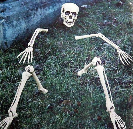 opf Halloween Außendeko Rasen Beet (Halloween Leichenteile)
