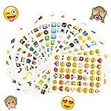 Oblique Unique® Emoji Sticker 960 Stück Aufkleber XXL Emoticons
