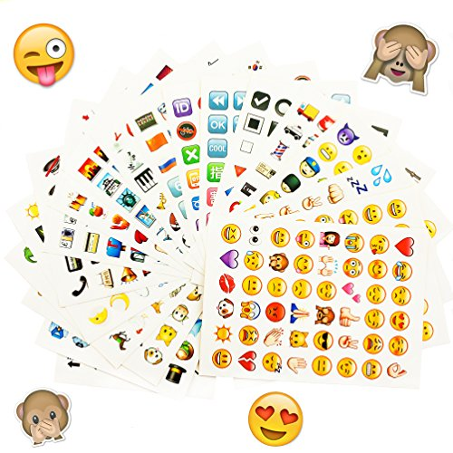 emoji sticker Oblique Unique® Emoji Sticker 960 Stück Aufkleber XXL Emoticons