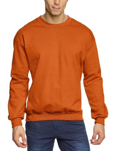 anvil Herren Sweatshirt / 71000, Gr. 60/62 (XXXL), Orange (TXO-Texas Orange) (Crew Texas Sweatshirt)