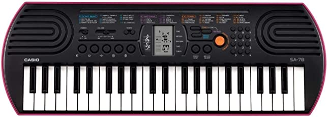 Casio Portable Electronic KeyBoard SA-78A with Free Adaptor worth INR 300