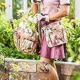 GardenGirl TB30 Chelsea Print Tool Belt - Green/Plum/Pink