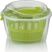 kela 11906 Essoreuse à Salade Mailin 4,4l en Plastique Vert, 24,5 x 24,5 x 17,5 cm