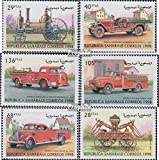 Prophila sellos para coleccionistas: Sáhara artículo: edición el gobierno en el exilio sin validez en internacional. el tráfico postal matasellado 1998 vehículos de bomberos