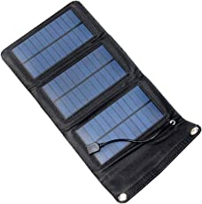 VORCOOL 5W Solar Phone Charger 5V USB Output Waterproof Solar Panel Charger Mobile Power Bank Outdoor Camping Emergency Solar Powered Charger for Phone Tablet GPS MP3