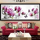 skgardeniamy Elegant Magnolie Blume Butterfly DIY 5D Diamant Painting Full Drill Diamant Crystal Strass Stickerei Bilder Kunst Handwerk für Home Wall Decor Voller Bohrer
