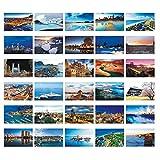 Schöne Reise-Landschaft 30PCS Künstlerische Retro Postkarten-Welt A3