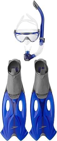 Speedo Glide Mask, Grey and Blue 2.5-3.5 UK