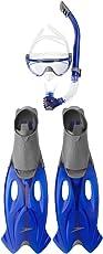 Speedo Unisex-Adult Glide Mask, Snorkel & Fin Set