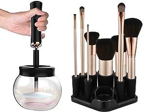 Make-up Pinsel Reiniger Trockner,Elektrischer Kosmetikpinsel Reinigungsgerät,Schnell und Effektive mit 8 Gummi-Halter,Anzug für alle Größe Make-up Pinsel