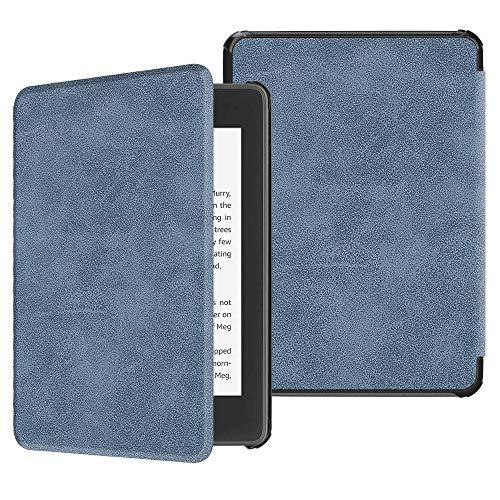 Fintie Hülle für Kindle Paperwhite (10. Generation - 2018) - Die dünnste und leichteste Schutzhülle Tasche mit Auto Sleep/Wake Funktion für Amazon Kindle Paperwhite eReader, Rustikal blau