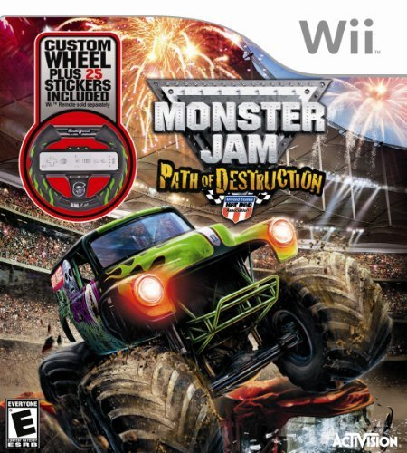Monster Jam 3: Path of Destruction with Grave Digger Steering Wheel Peripheral - Nintendo Wii by Activision (Jam-wii Monster)