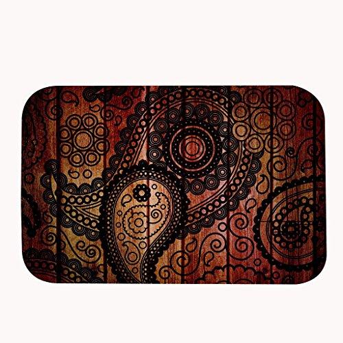 Felpudos Entrada de Casa Vintage madera zona alfombra alfombrilla de puerta entrada alfombra alfombrillas para frontal exterior puerta entrada alfombra, 16