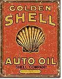 Shell Auto Oil Antik Style Blechschild Flach Neu 31x40cm S3965