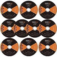"""Discos de corte Tacklife PCW5 125 X 1 mm,  juego de 10 discos ultra finos fabricados con acero inoxidable. Discos de corte para metal para usar en amoladora angular 4-1 / 2"""" y compatibles con amoladoras con 7/8"""""""