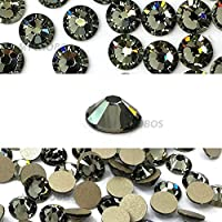 Crystal-Wholesale Black Diamond (215) Swarovski 2058 Xilion/NEW 2088 Xirius 12ss Flat backs No Hotfix nail art Rhinestones 3mm ss12 from Mychobos