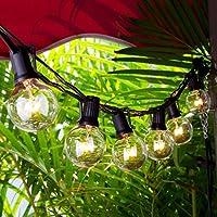 Chenci Catene Luminose, Illuminazione Giardino Luci Stringa Lampadina Con  25 G40 Bulbi 7,5m