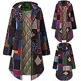 TITAP S-5XL Women Hooded Long Sleeve Vintage Ladies Fleece Thicken Coats Button Long Coat