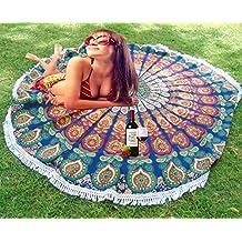Mandala manta de Picnic indio redondo Roundie manta Hippy de playa manta esterilla de yoga.