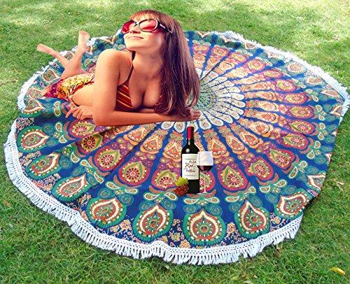 Mandala Picknick Überwurf indischen rund Roundie Überwurf Hippie-Beach Überwurf Yoga Matte.