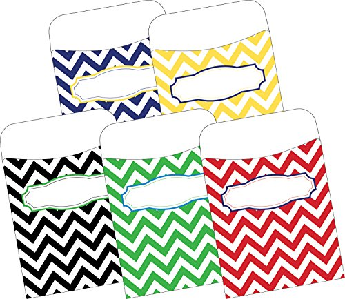 Barker creek chevron nautical multi design self-adhesive peel & stick labels (ll-1232)