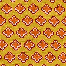 Popelín con CRUZES amarillo-naranja, tela algodón mercerizado, por metro