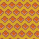 MOORE DENIM Popeline Baumwollstoff Kreuze gelb-orange,